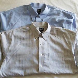 Lot of 2 Mens Jos.A.Bank dress shirts, 17-34, NEW